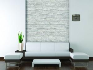 interior design modern white furniture on white wall