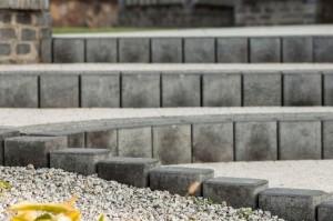 Buszrem palisada Piazza kostka płukana Kreta szara i grafit