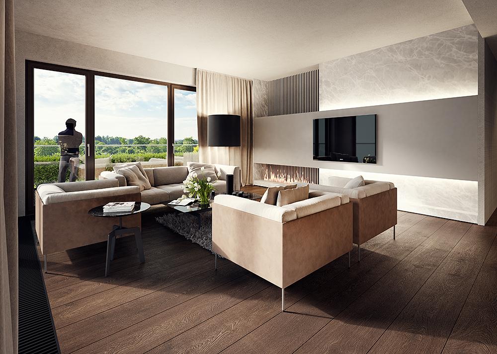 Park Avenue Apartment - Classic wizualizacja wnętrza (1)